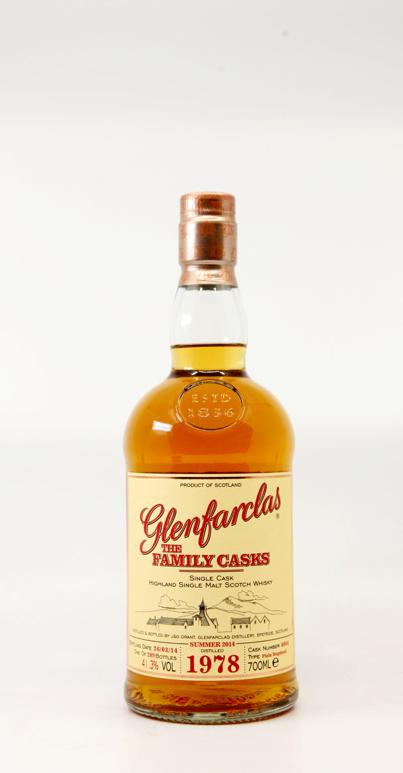 GLENFARCLAS 1978 35 YEARS THE FAMILY CASKS #4004 PLAIN HOGSHEAD 70CL