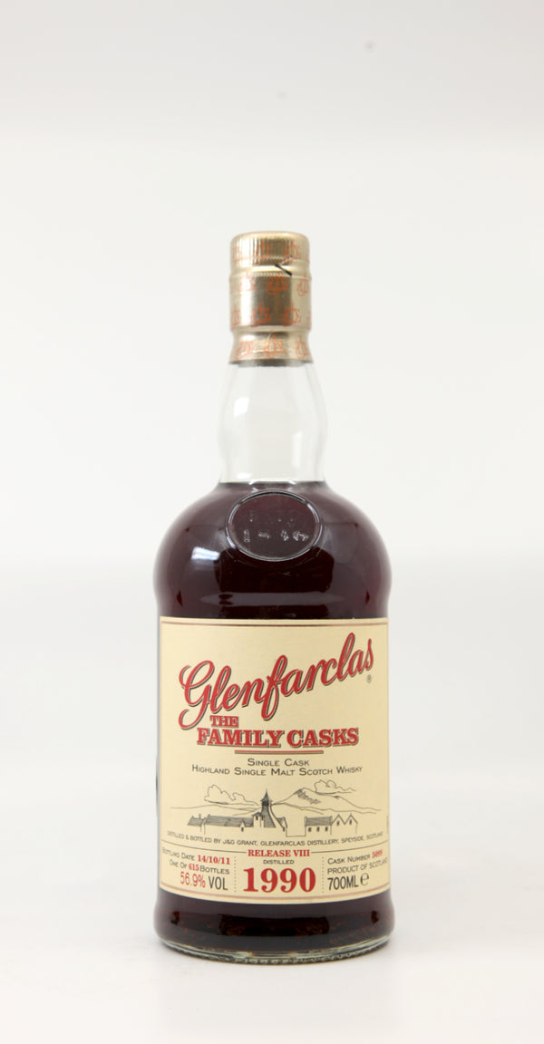GLENFARCLAS 1990-2011 THE FAMILY CASKS RELEASE VIII #5099 70CL
