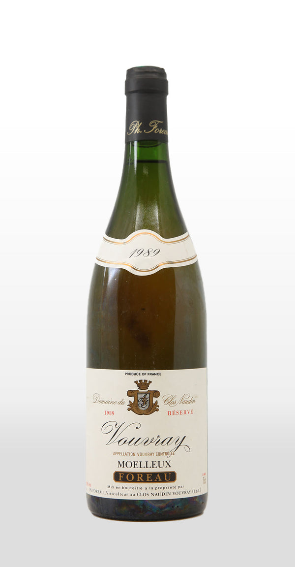 PHILIPPE FOREAU DOMAINE DU CLOS NAUDIN VOUVRAY RESERVE MOELLEUX 1989 750ML