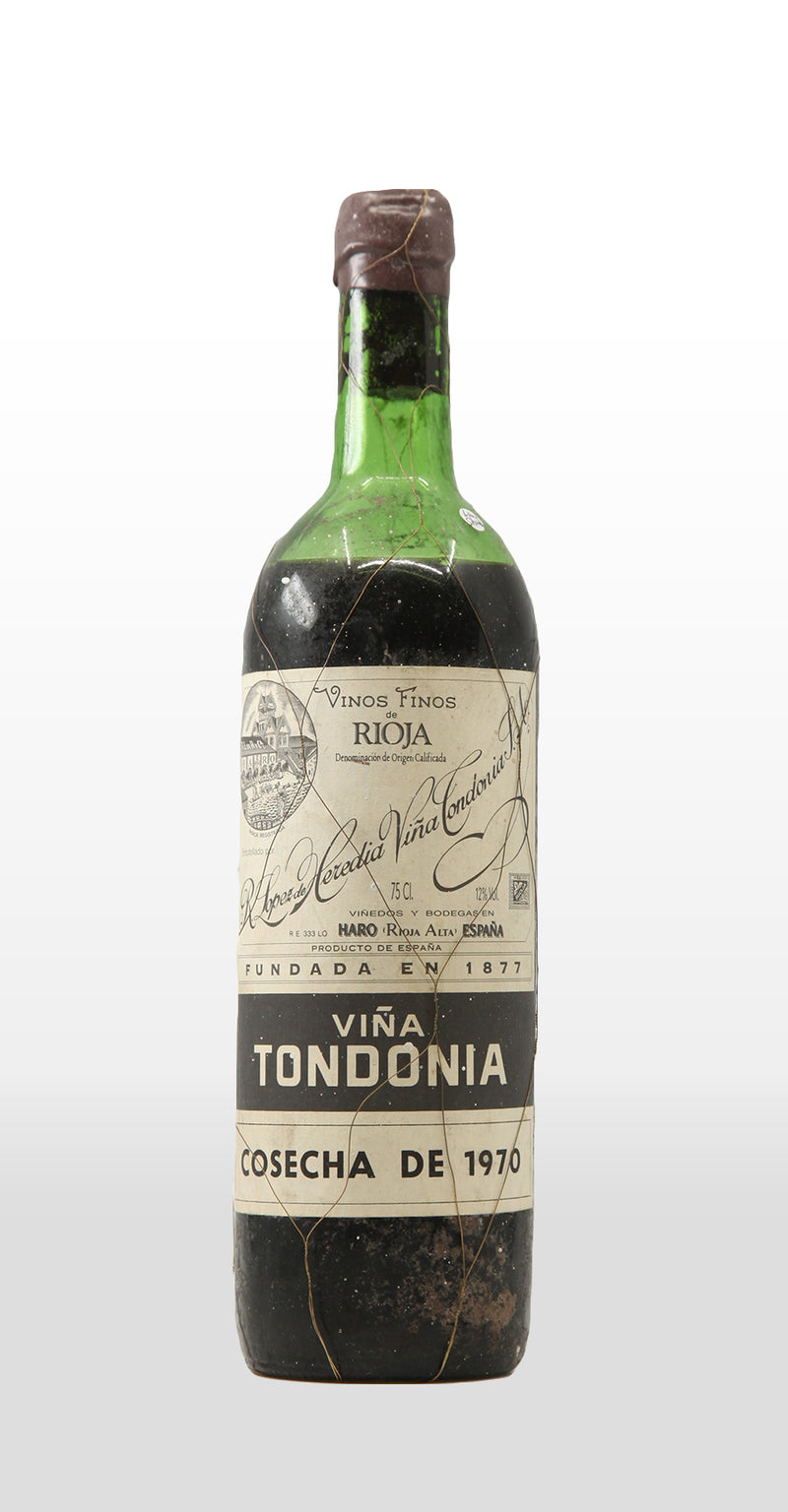R. LOPEZ DE HEREDIA VINA TONDONIA RIOJA DOCA GRAN RESERVA 1970 (LOW SHOULDER) 750ML