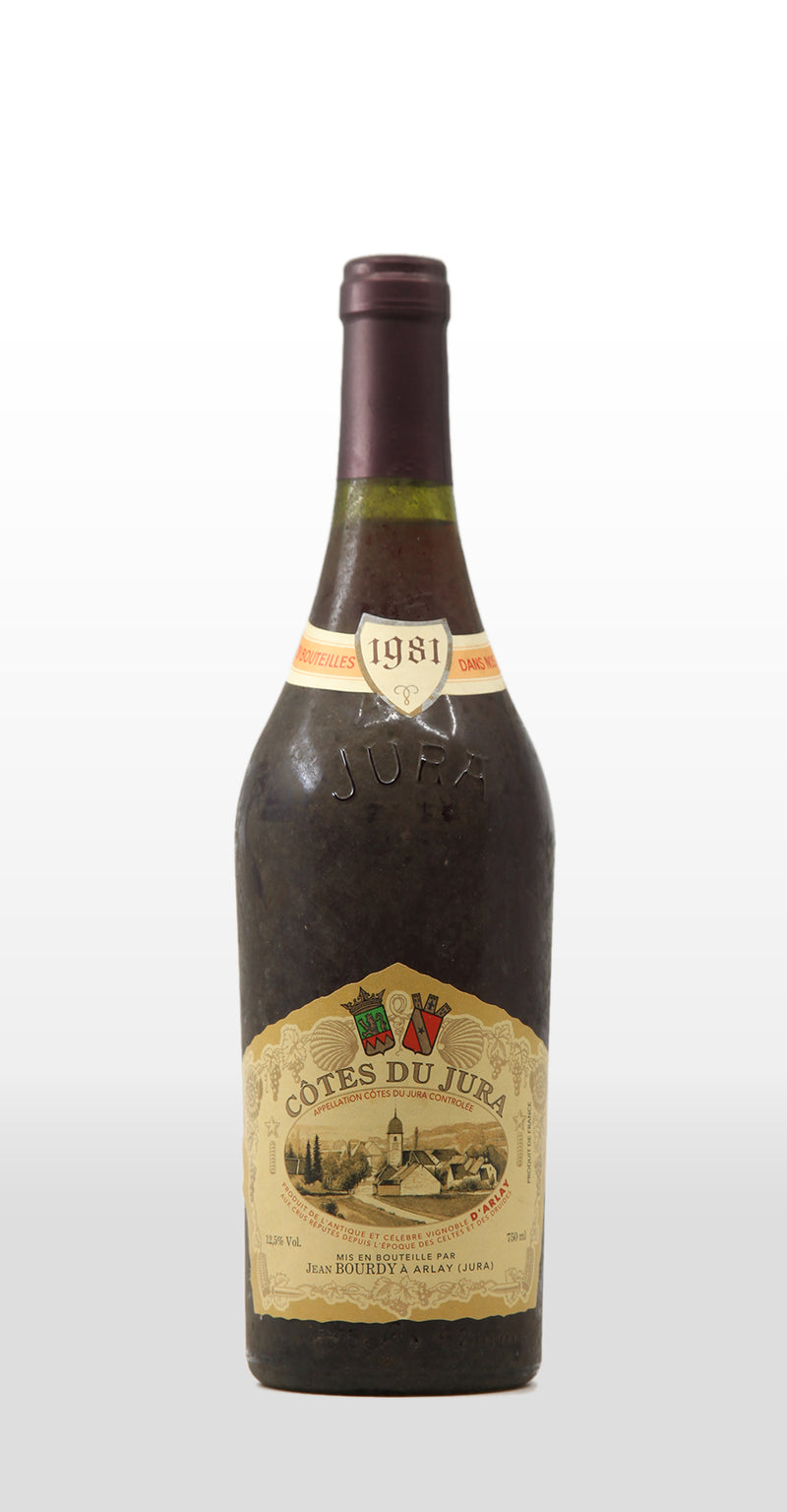 JEAN BOURDY COTES DU JURA ROUGE 1981 750ML