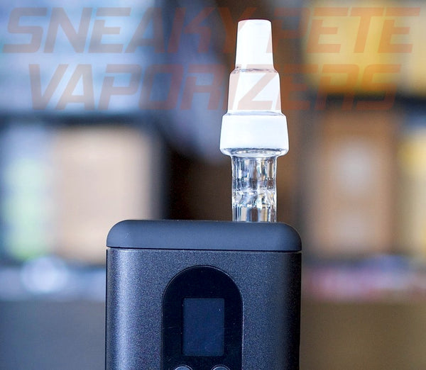 Glass water pipe adapter attached to Argo vaporiser