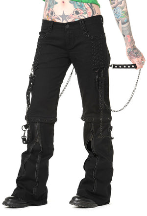 Black Chain Industrial Trousers