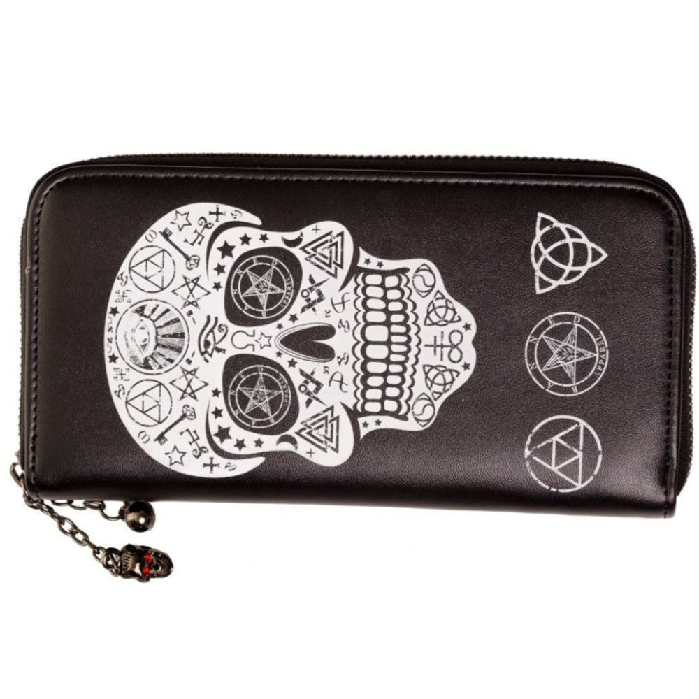 Black Skull Pentagram Wallet