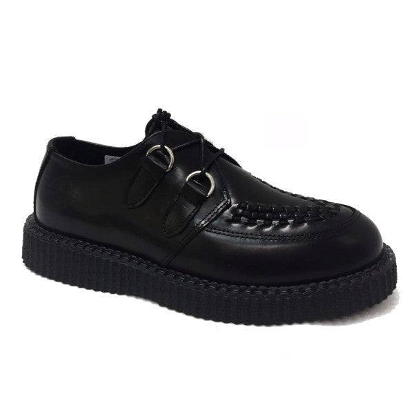Nevermind Creeper Haley Black Leather