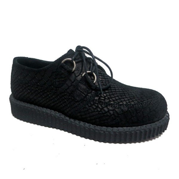 Nevermind Creeper Haley Anaconda Suede Leather