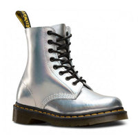 Dr. Martens Silver Iced Metallic Leather