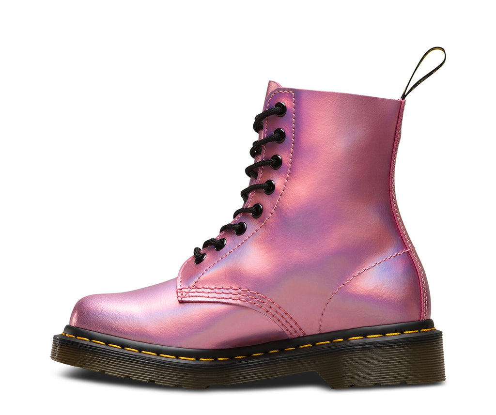 Dr. Martens Pink Iced Metallic Leather