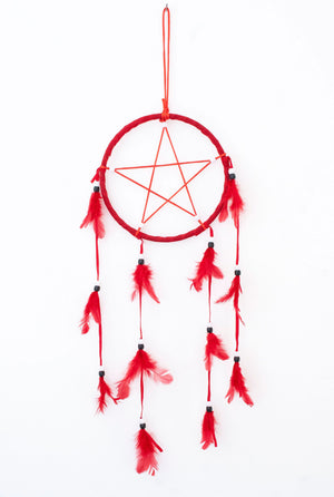 Necessary Evil Red Pentagram Dreamcatcher