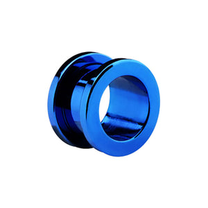 Flesh Tunnel Blue Plated Surgical Steel