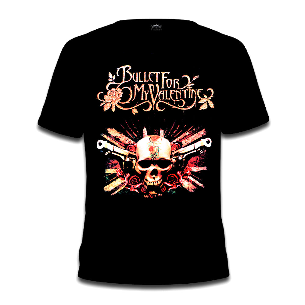 Bullet For My Valentine Skull & Guns Tee
