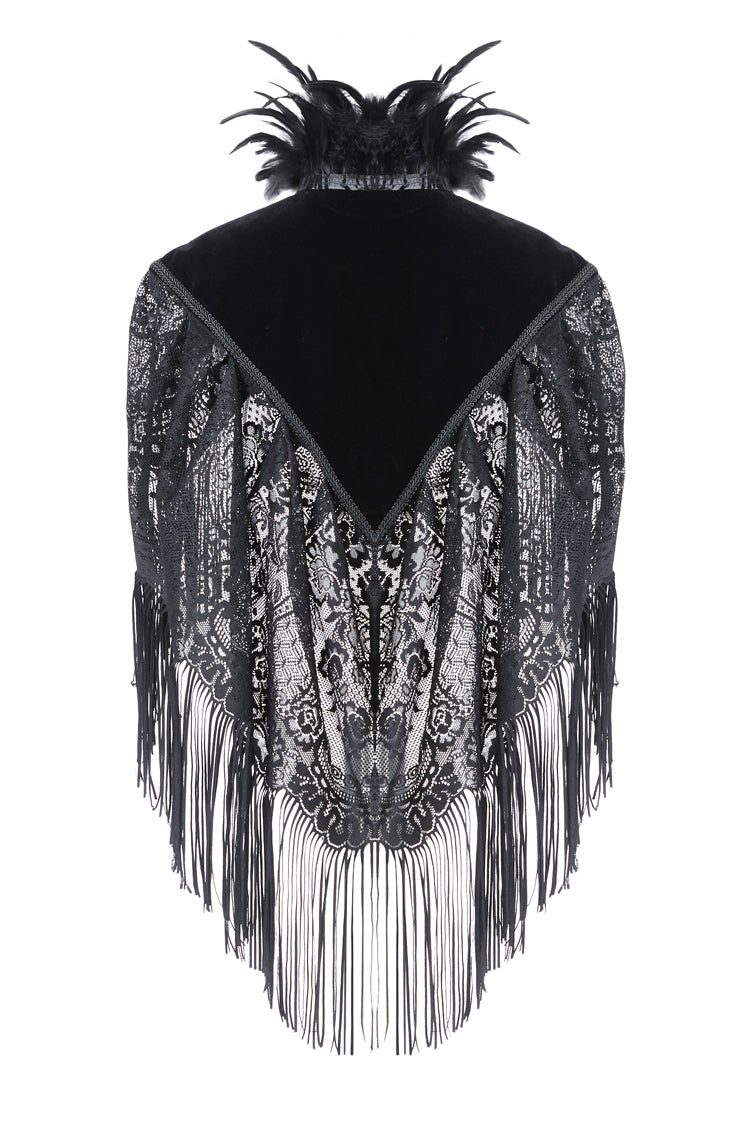 Dark In Love Velvet Tassel Cape
