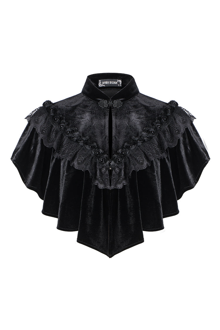 Dark In Love Gothic Hearted Shape Cape