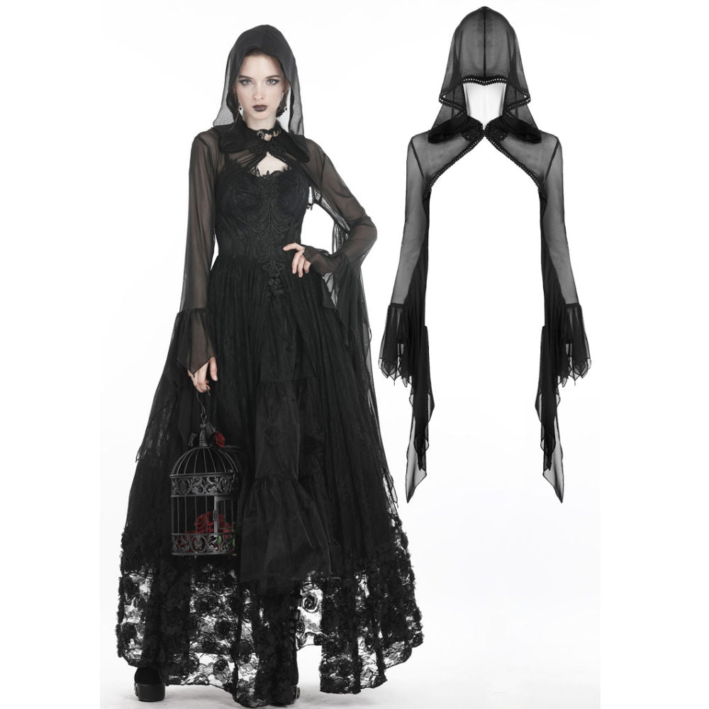 Gothic Witch  Mesh Cape