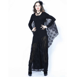 Gothic Bat Lace Sleeve Dress
