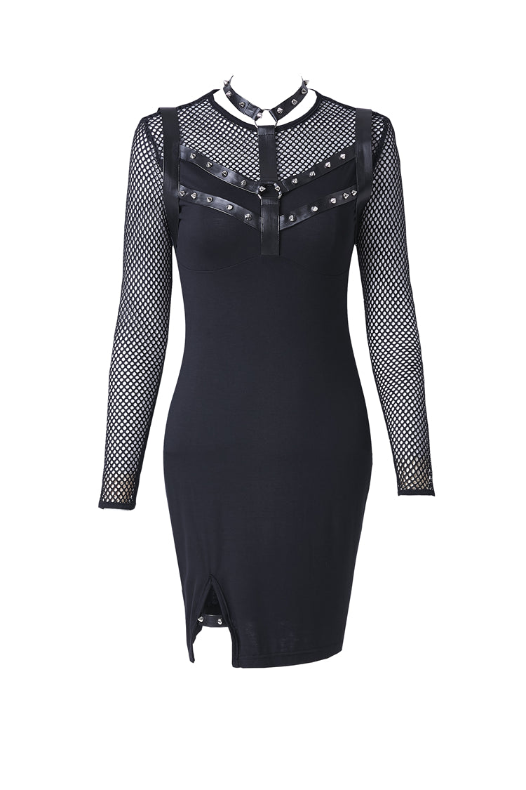 Dark In Love Punk Studded Dress 204