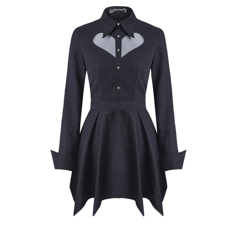 Vamp Collar Dress
