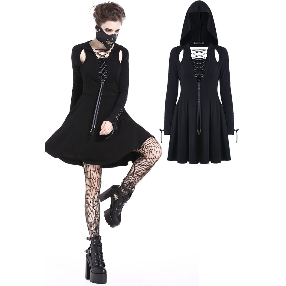 Punk Hooded Dress