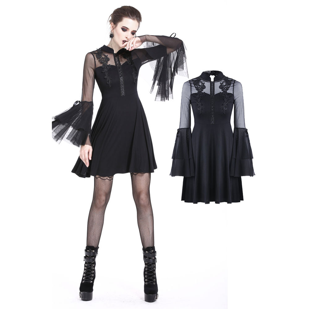Gothic Flowered Bust Dress