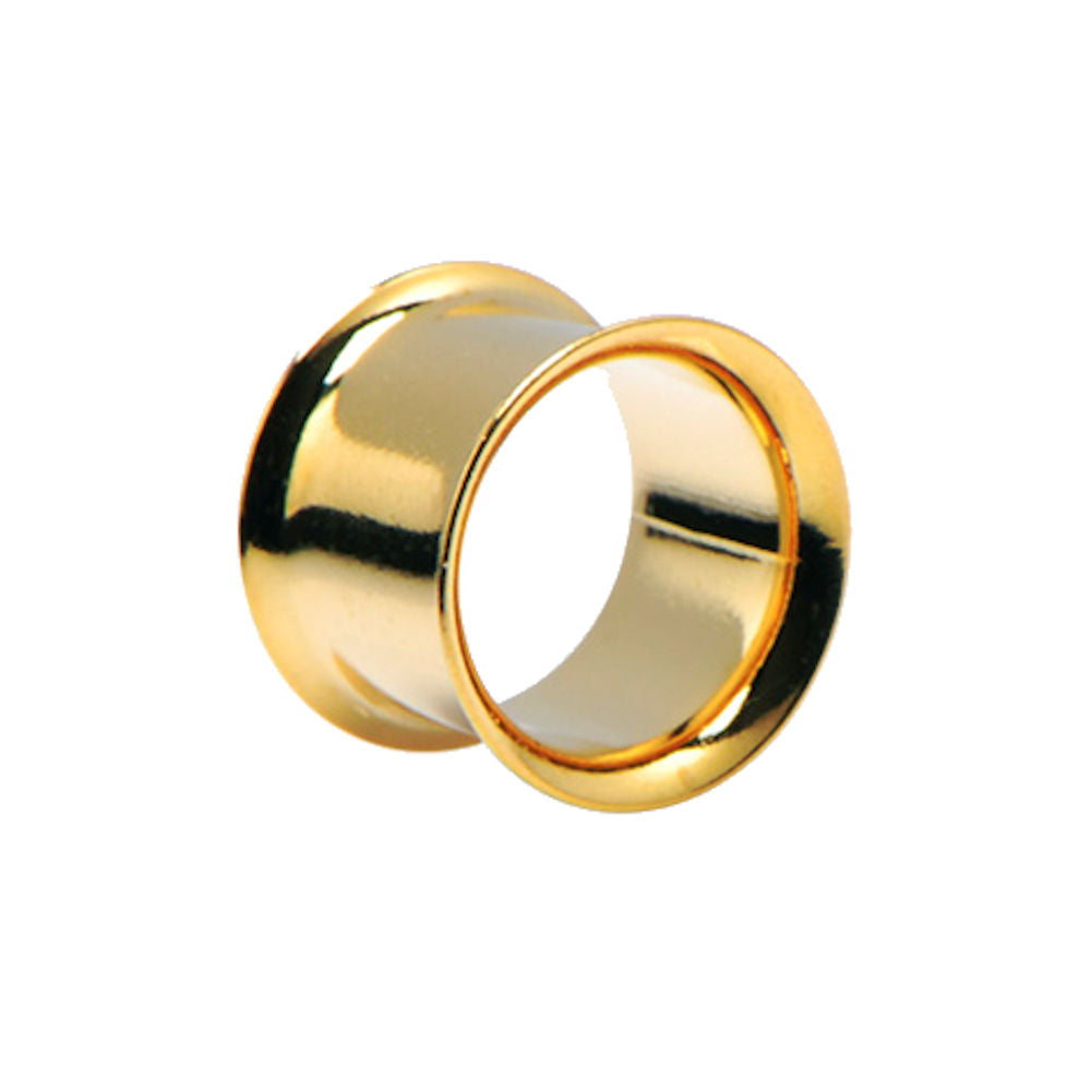 Flesh Tunnel Gold Plated Surgical Steel