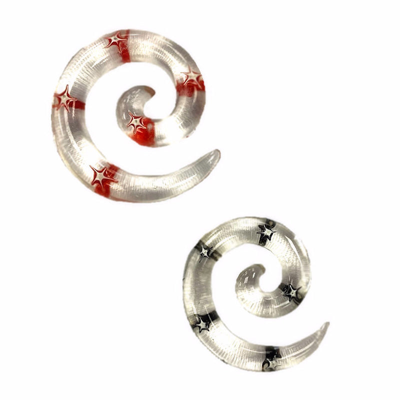 Spiral Expander Clear Star Acrylic