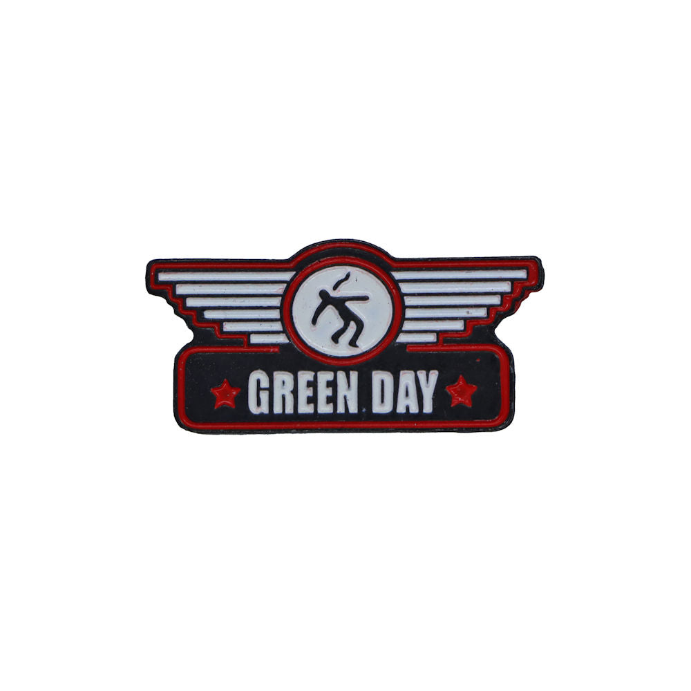 Green Day Wings Pin