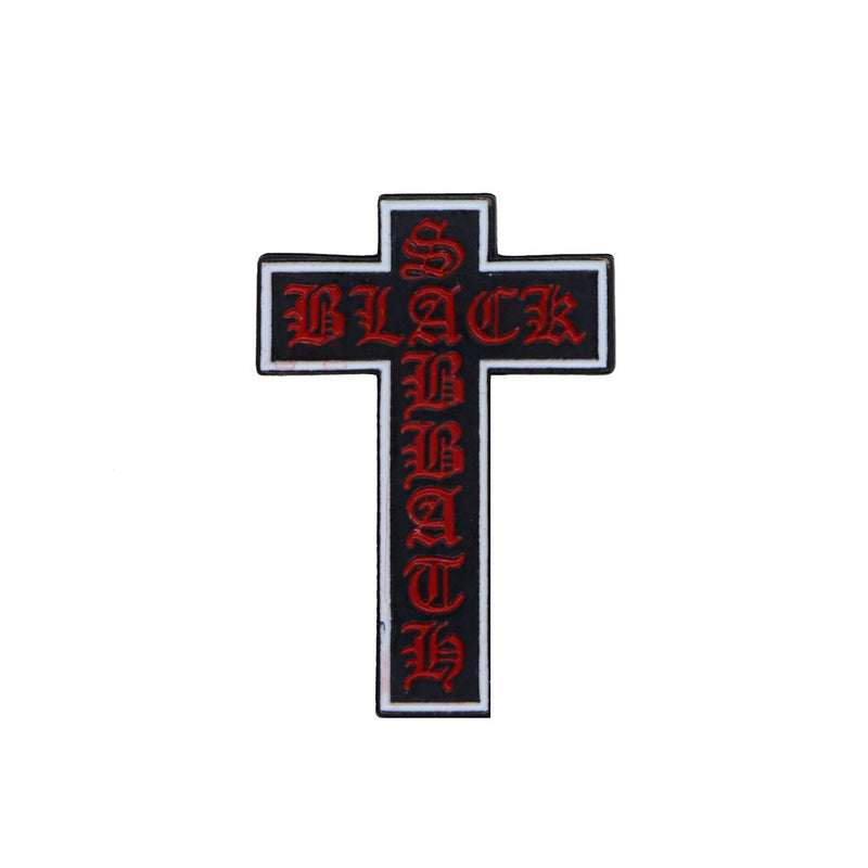 Black Sabbath Cross Pin