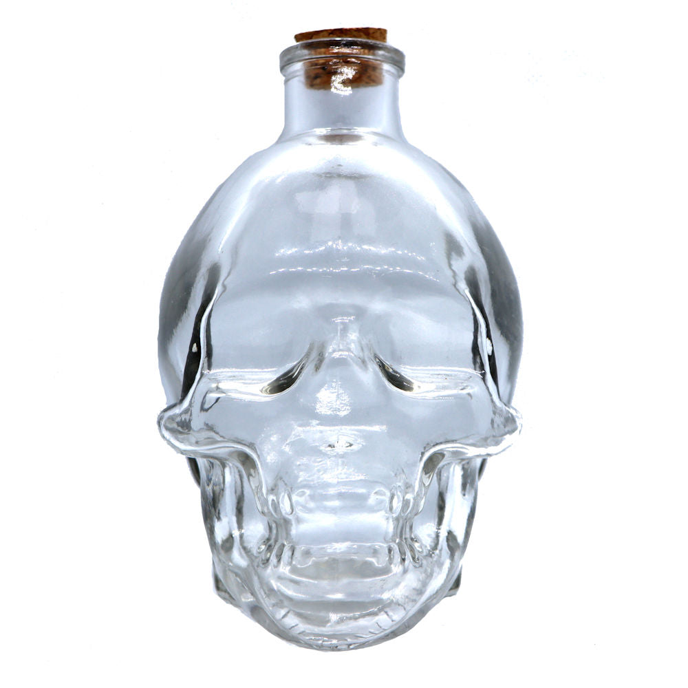 Glass Skull Jar
