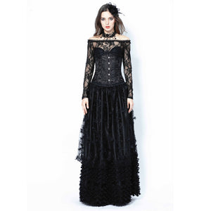 Gothic Lace Long Skirt