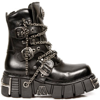 New Rock Ankle Boot w/ Straps & Chains M-1011-S1