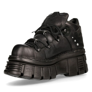 New Rock Tower Black Shoe M-106-S52