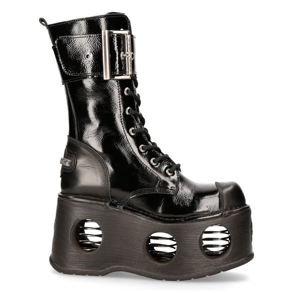 New Rock Patent Platform Boot M-312-S5