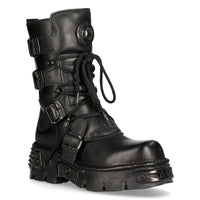 New Rock Reactor Black Boot M-373-S18