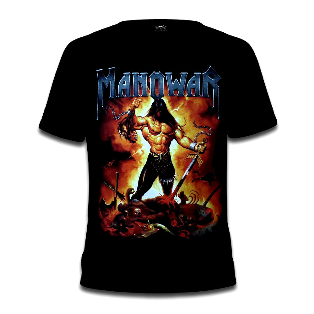 Manowar Fire & Blood Tee