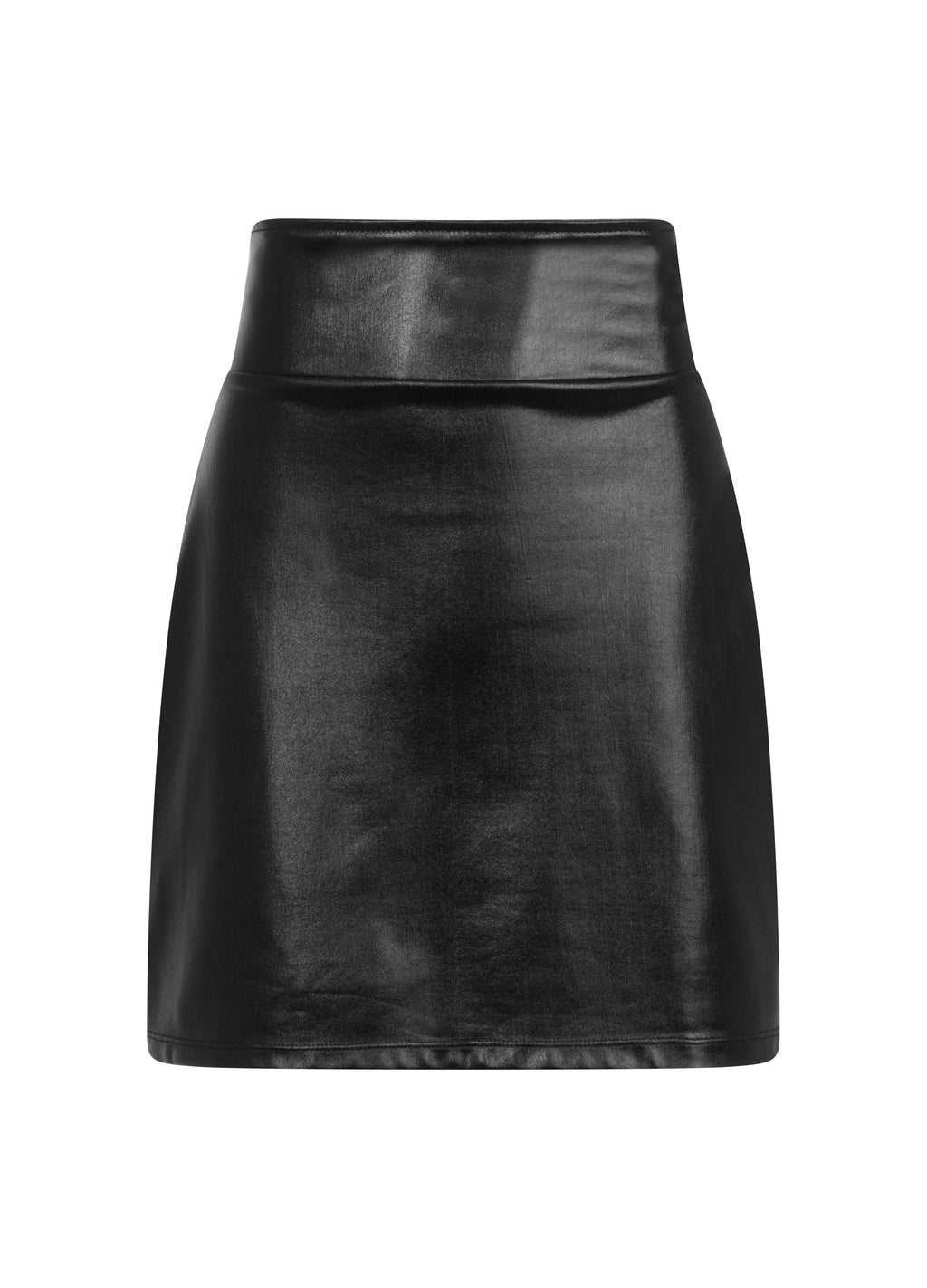 Necessary Evil High Waist Vinyl Skirt