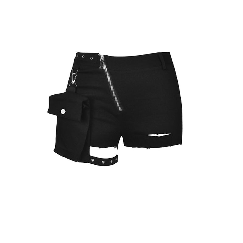 Irregular Shorts With Side Bag PW107