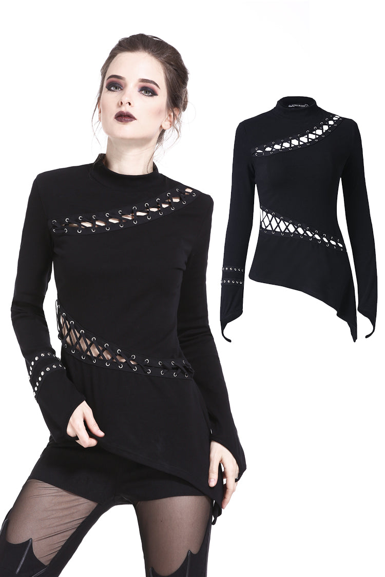 Dark In Love Asymmetrical Punk Top