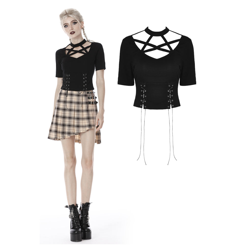 Punk Lace Up Top 274