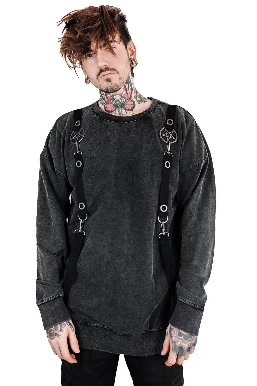 Killstar Vicious Vintage Wash Sweater
