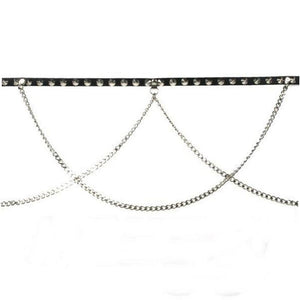 B305 - Double Chain Leather Belt