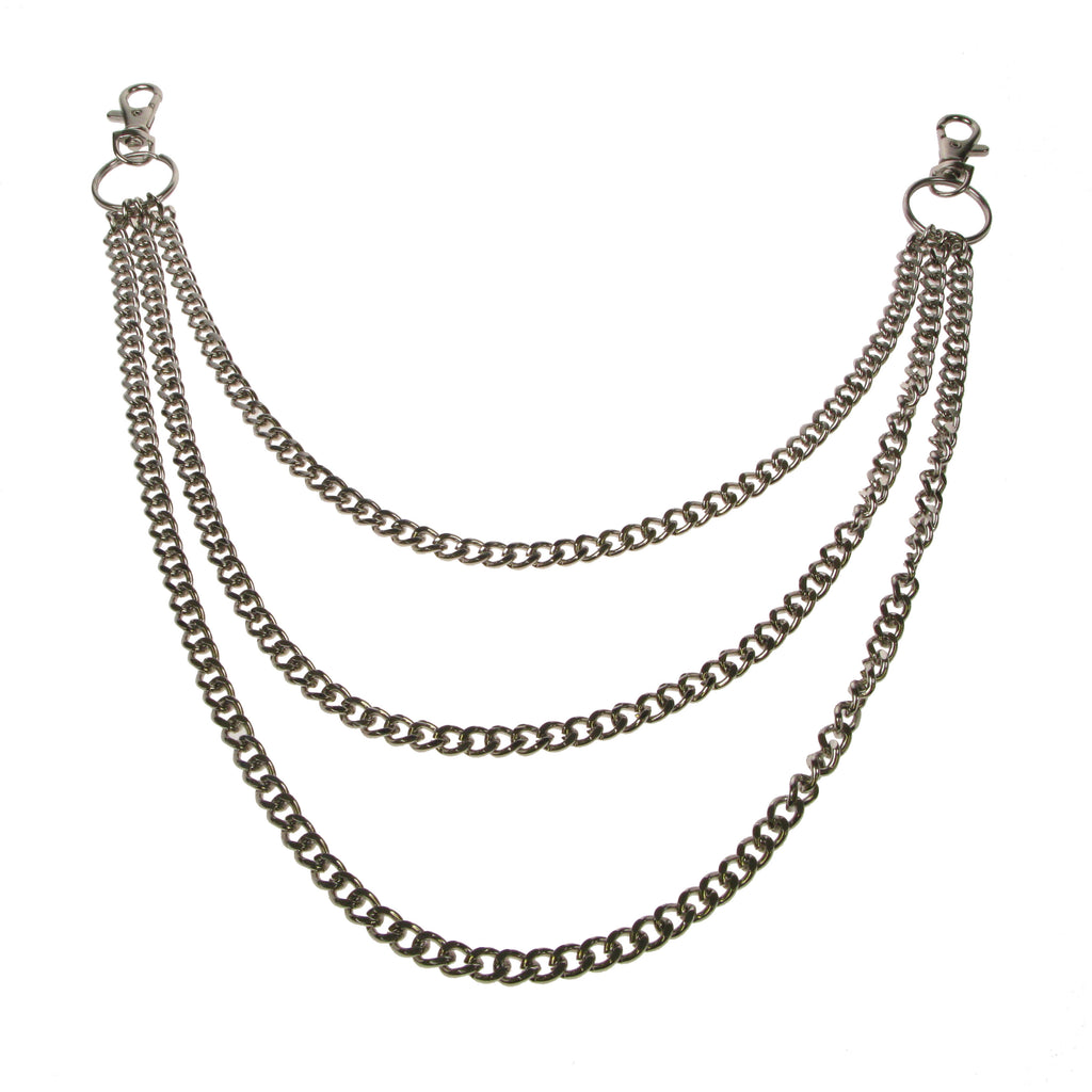 Y1431D- Triple Diamond Cut Metal Chain