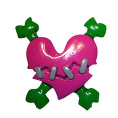 Kreepsville666 Stitched Heart Brooch