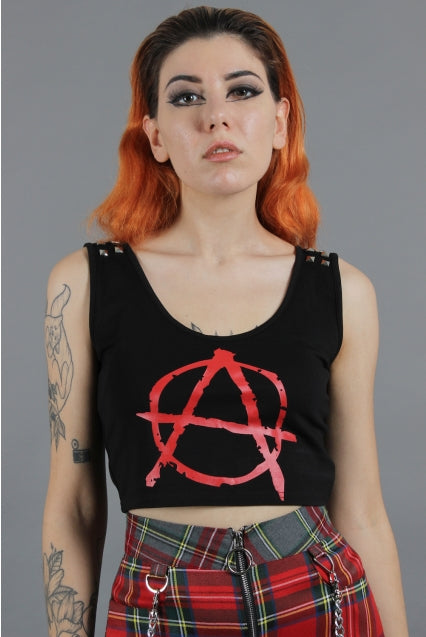 One Direction Anarchy Studded Crop Top
