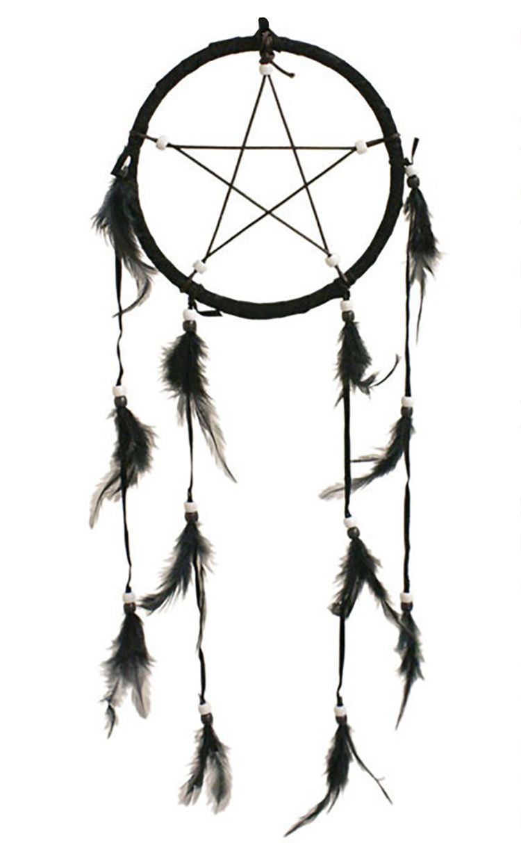 Necessary Evil Black Pentagram Dreamcatcher