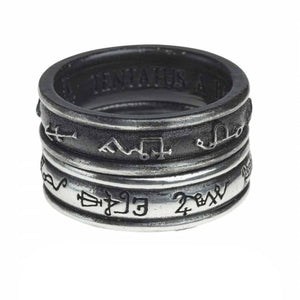 Alchemy England Demon Black & Angel White Ring