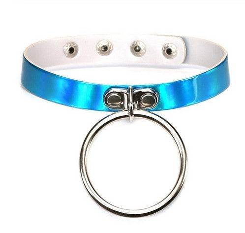 O-Ring Holo Blue Choker