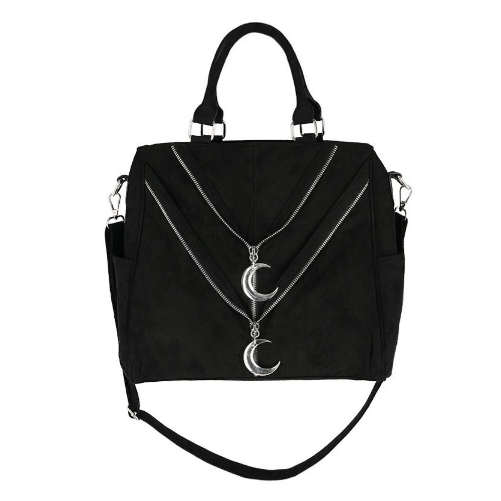 Double Zipped Moon Bag
