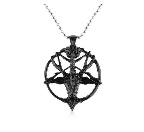Baphomet Black Necklace