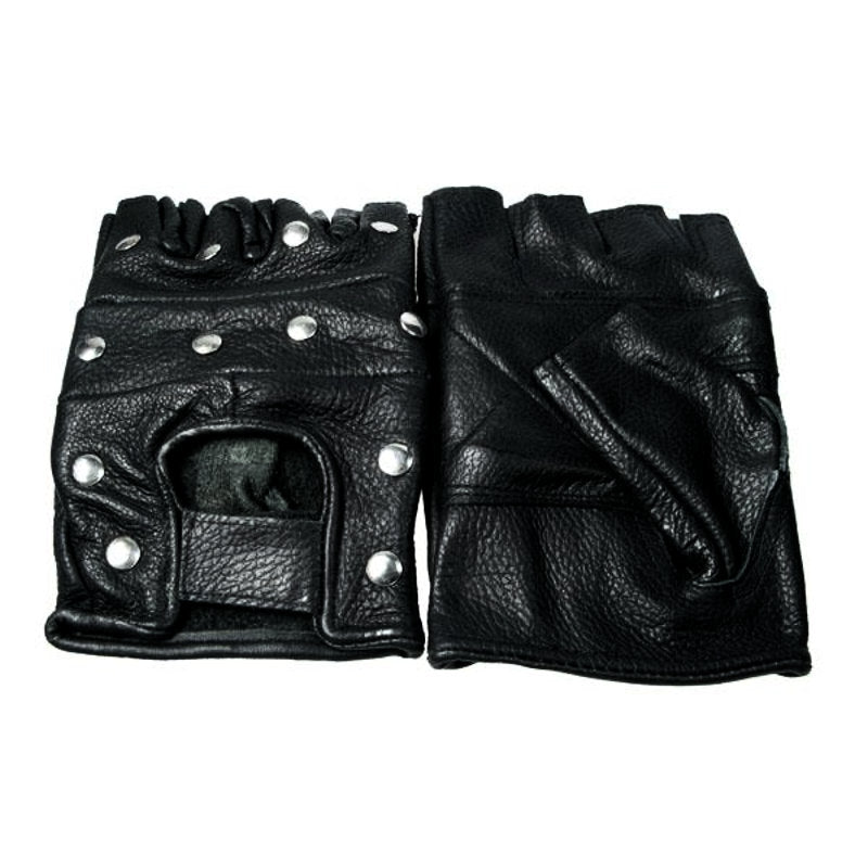 LG012 - Biker Leather Gloves