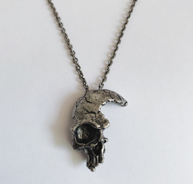 Faded Skull Necklace